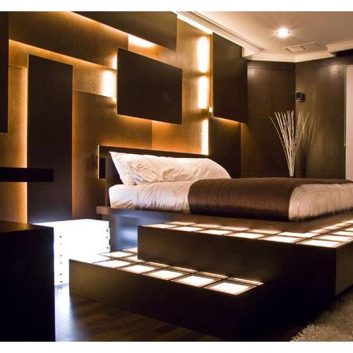Łózko z podświetleniem LED