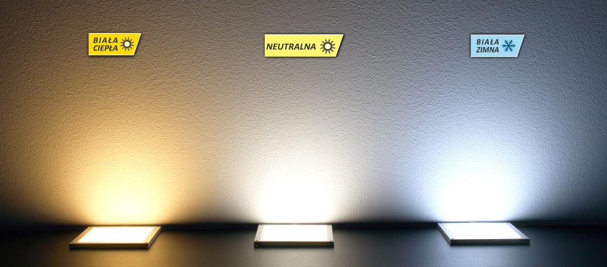 Porównanie barw światła - oprawa Foton LED