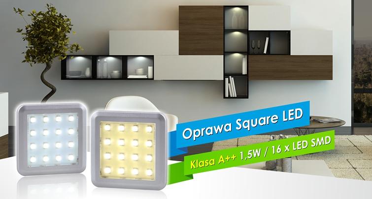 Square LED - oprawa meblowa do szaf i witryn