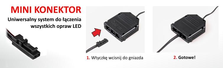 System połączeń oświetlenia LED