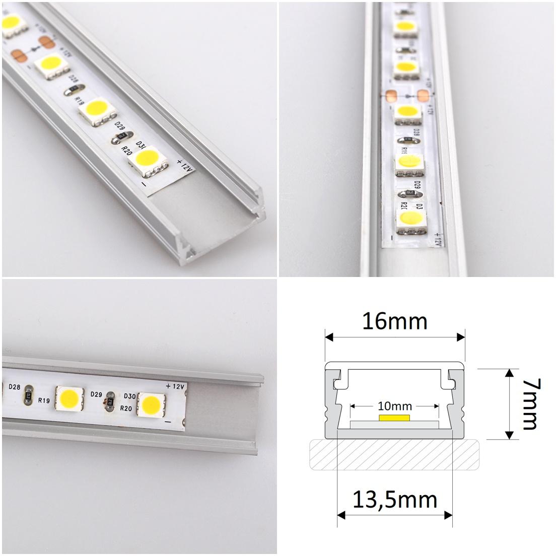 Profile LINE XL do taśm LED - zdjęcia, rysunek techniczny - Design Light