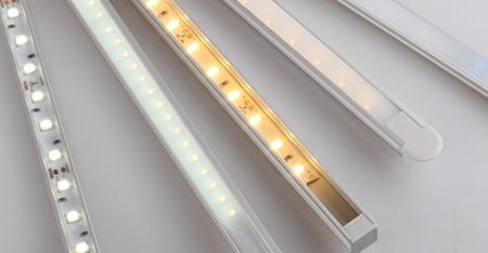 Profile LED uzbrojone w taśmę