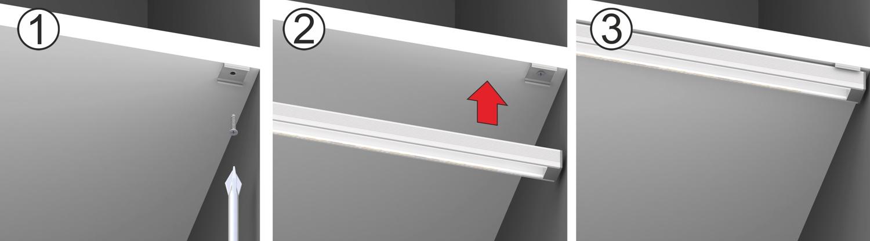 Uchwyty montażowe do profili LED